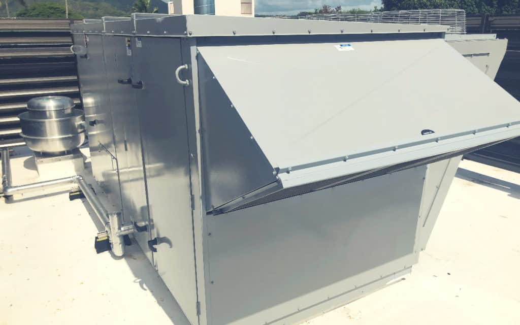 Dedicated Outside Air Unit on a rooftop